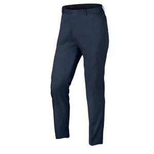 Nike Men's Flat Front Standard Fit Navy Golf Pant